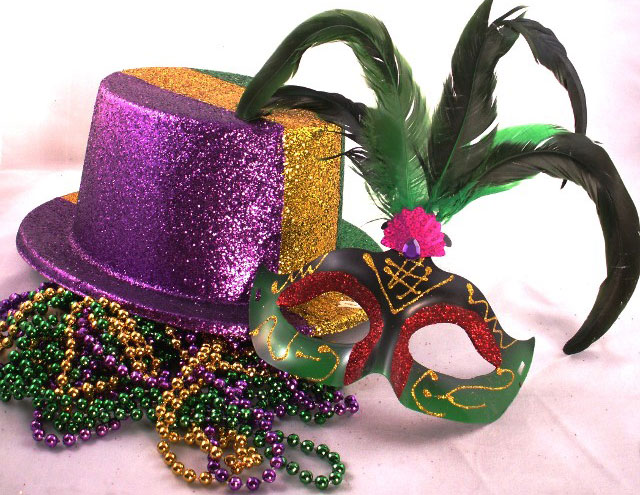Mardi Gras Hat and Mask