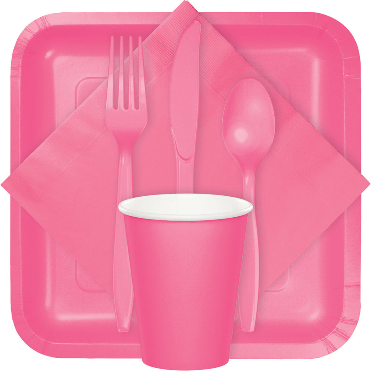 hot pink plates